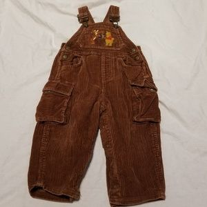 Baby Vintage Disney Winnie The Pooh Overalls